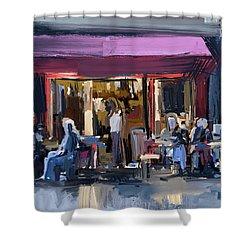 Sidewalk Scene Shower Curtain