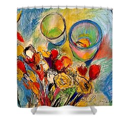 Sidewalk Stille-life Shower Curtain