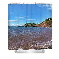 Shower Curtain featuring the photograph Sidmouth Jurassic Coast by Scott Carruthers