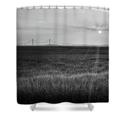 Sidney Lanier At Sunset In Black And White Shower Curtain