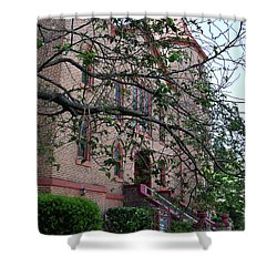 Shower Curtain featuring the photograph Sidney Park Cme Church by Skip Willits