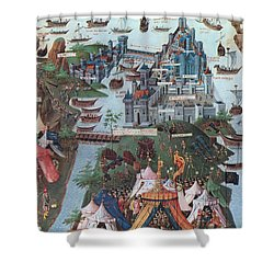 Siege Of Constantinople, 1453 Shower Curtain by Photo Researchers