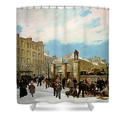 Siege Of Paris Shower Curtain by Jacques Guiaud