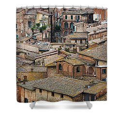 Siena Colored Roofs And Walls In Aerial View Shower Curtain