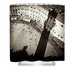 Siena From Above Shower Curtain by Dave Bowman