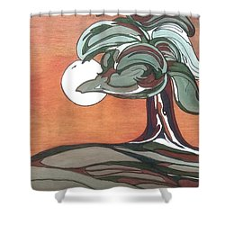 Shower Curtain featuring the painting Sienna Skies by Pat Purdy
