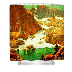 Sierra Landscape Circa 1920 Shower Curtain