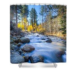 Sierra Mountain Stream Shower Curtain