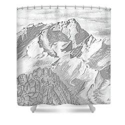 Sierra Mt's Shower Curtain