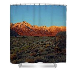 Sierra Nevada Sunrise Shower Curtain
