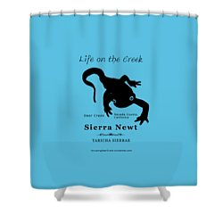 Sierra Newt - Black Shower Curtain