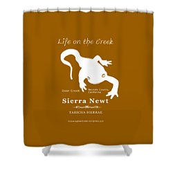 Sierra Newt - White Shower Curtain