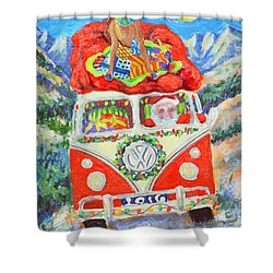 Shower Curtain featuring the painting Sierra Santa by Li Newton