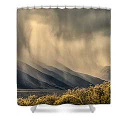 Sierra Storm From Panum Crater Shower Curtain