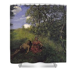 Siesta Shower Curtain by Hans Thoma