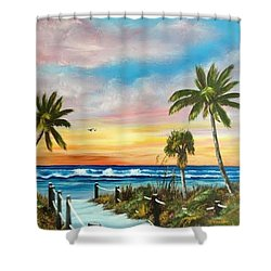 Siesta Key At Sunset Shower Curtain