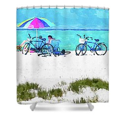 Siesta Key Beach Bikes Shower Curtain