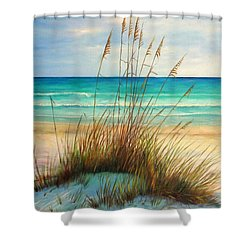 Siesta Key Beach Dunes  Shower Curtain by Gabriela Valencia
