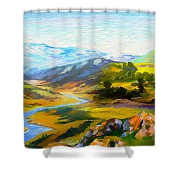 Sights And Sounds Shower Curtain