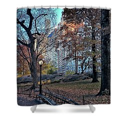 Shower Curtain featuring the photograph Sights In New York City - Central Park by Walt Foegelle