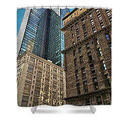 Shower Curtain featuring the photograph Sights In New York City - Old And New 2 by Walt Foegelle