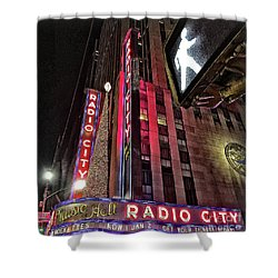 Shower Curtain featuring the photograph Sights In New York City - Radio City by Walt Foegelle