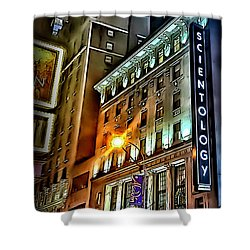 Shower Curtain featuring the photograph Sights In New York City - Scientology by Walt Foegelle