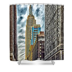 Shower Curtain featuring the photograph Sights In New York City - Skyscrapers 10 by Walt Foegelle
