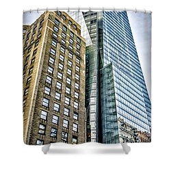 Shower Curtain featuring the photograph Sights In New York City - Skyscrapers by Walt Foegelle
