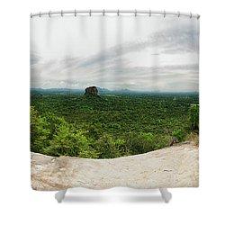 Sigiriya Panorama Shower Curtain by Venura Herath