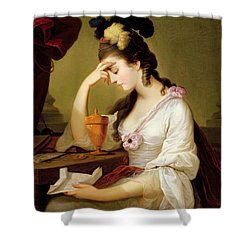 Sigismonda And The Heart Of Guiscardo Shower Curtain by Moses Haughton