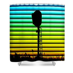Signal At Dusk Shower Curtain by Bill Kesler