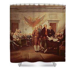Signing The Declaration Of Independence Shower Curtain by John Trumbull