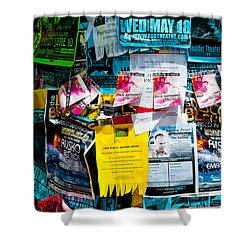 Shower Curtain featuring the photograph Signs Everywhere Signs by Colleen Coccia