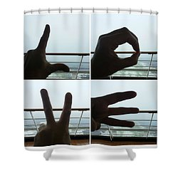 Signs Of Love Shower Curtain