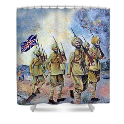Sikh Soldiers In France Ww1 Shower Curtain