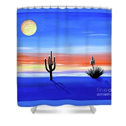 Shower Curtain featuring the painting Silellnt Shadows by Phyllis Kaltenbach