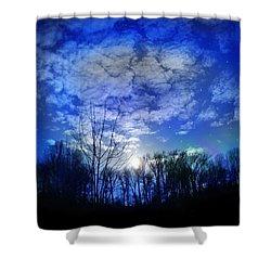 Silence Shower Curtain by Bernd Hau