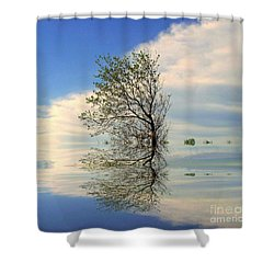 Silence Shower Curtain by Elfriede Fulda