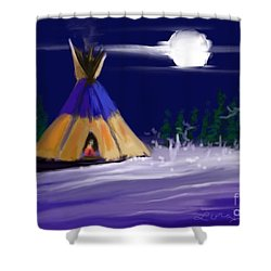 Silence In The Moonlight Shower Curtain