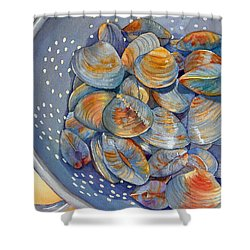 Silence Of The Clams Shower Curtain