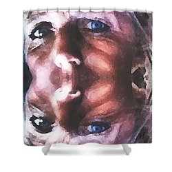 Shower Curtain featuring the digital art Silenced by Shelli Fitzpatrick