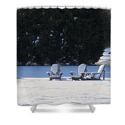 Silent Conversation Shower Curtain