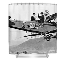 Silent Film Still: Stunts Shower Curtain by Granger