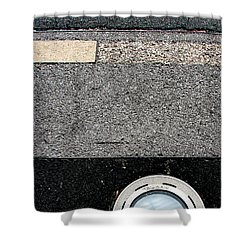 Middle Grey Shower Curtain