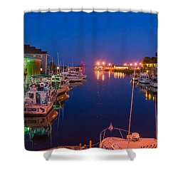Silent Harbor Shower Curtain