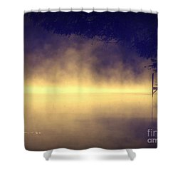Silent Lake Shower Curtain by France Laliberte
