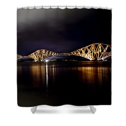 Silent Lights Of The Magic Night. Shower Curtain