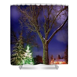 Shower Curtain featuring the photograph Silent Night by Cat Connor