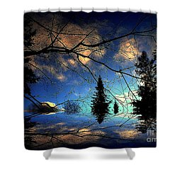 Silent Night Shower Curtain by Elfriede Fulda